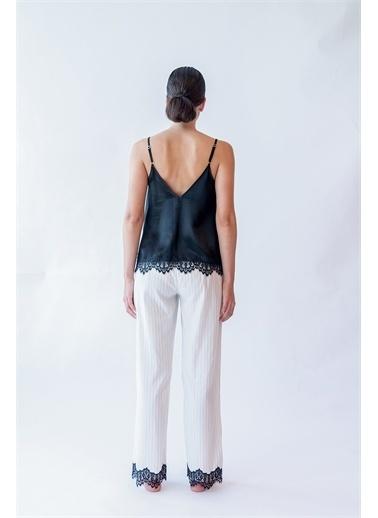 Hays Kadın Dantel Detaylı Cupro Cotton Uzun Alt Ekru
